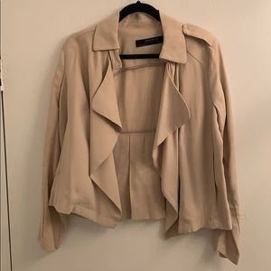 Zara drape front jacket